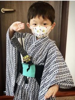 中村獅童の息子陽喜くんの歌舞伎稽古画像