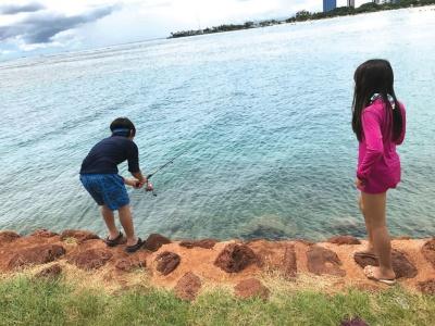 つんくの子供の画像,ハワイ